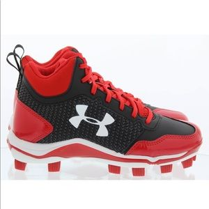 Under Armour Heater Mid TPU Jr Baseball Shoes